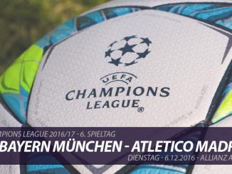 Champions League Tickets: FC Bayern München - Atletico Madrid, 6.12.2016