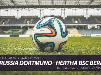 DFB-Pokal Tickets: Borussia Dortmund - Hertha BSC Berlin, 7./8.2.2017
