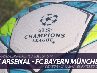 Champions League Tickets: FC Arsenal - FC Bayern, 7.3.2017