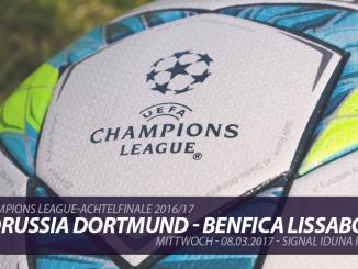 Champions League Tickets: Borussia Dortmund - Benfica Lissabon, 8.3.2017