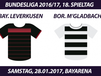 Bundesliga Tickets: Bayer Leverkusen - Borussia Mönchengladbach, 28.1.2017