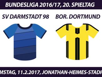 Bundesliga Tickets: SV Darmstadt 98 - Borussia Dortmund, 11.2.2017