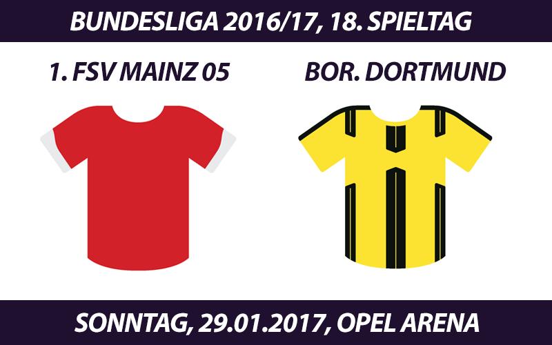 Bundesliga Tickets: 1. FSV Mainz 05 - Borussia Dortmund, 29.1.2017