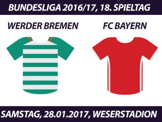 Bundesliga Tickets: Werder Bremen - FC Bayern München, 28.1.2017