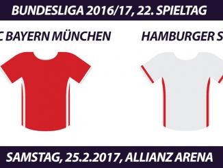 Bundesliga Tickets: FC Bayern München - Hamburger SV, 25.2.2017