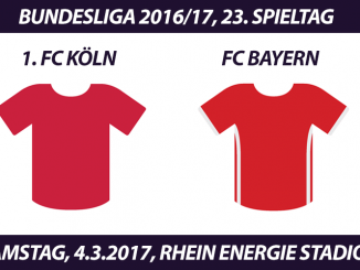Bundesliga Tickets: 1. FC Köln - FC Bayern München, 4.3.2017