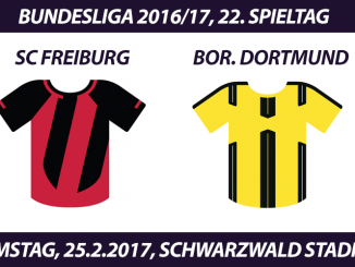 Bundesliga Tickets: SC Freiburg - Borussia Dortmund, 25.2.2017
