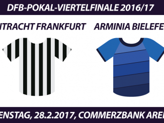 DFB-Pokal Tickets: Eintracht Frankfurt - Arminia Bielefeld, 28.2.2017