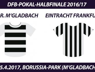 DFB-Pokal Tickets: Borussia Mönchengladbach - Eintracht Frankfurt, 25.4.2017