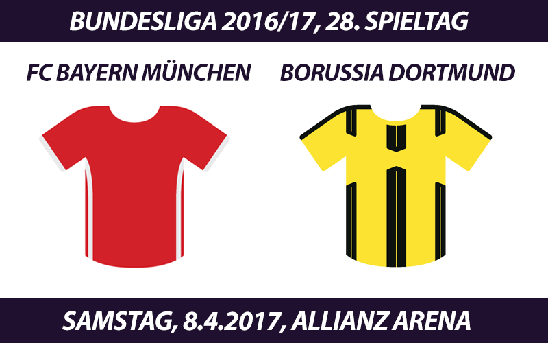 Bundesliga Tickets: FC Bayern München - Borussia Dortmund, 8.4.2017