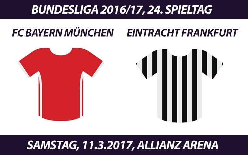 Bundesliga Tickets: FC Bayern München - Eintracht Frankfurt, 11.3.2017