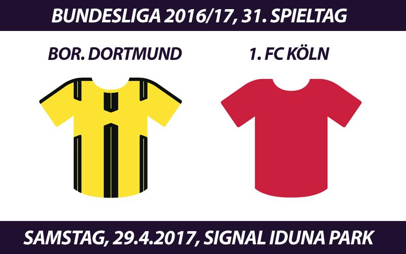 Bundesliga Tickets: Borussia Dortmund - 1. FC Köln, 29.4.2017