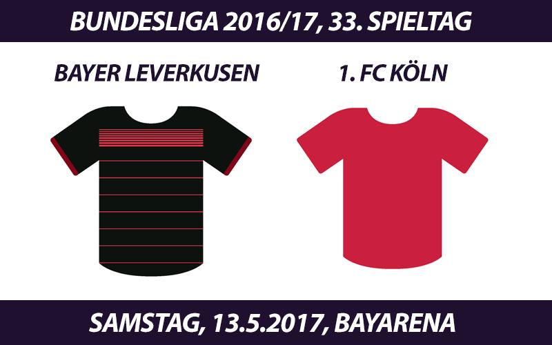 Bundesliga Tickets: Bayer Leverkusen - 1. FC Köln, 13.5.2017