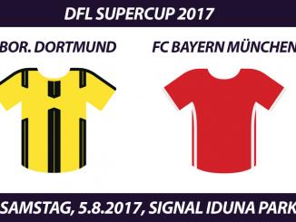 DFL Supercup 2017 Tickets: Borussia Dortmund - FC Bayern München, 5.8.2017