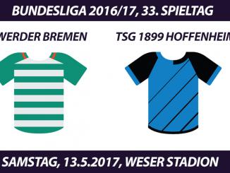 Bundesliga Tickets: Werder Bremen - TSG 1899 Hoffenheim, 13.5.2017