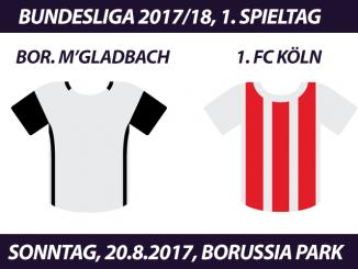 Bundesliga Tickets: Borussia Mönchengladbach - 1. FC Köln, 20.8.2017