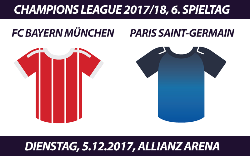 Champions League Tickets: FC Bayern - Paris Saint-Germain, 5.12.2017