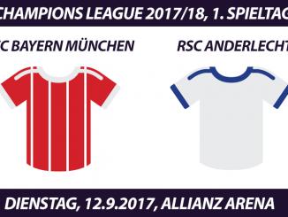 Champions League Tickets: FC Bayern - RSC Anderlecht, 12.9.2017