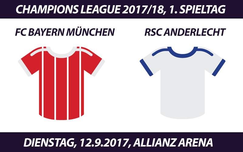 Champions League Tickets: FC Bayern - RSC Anderlecht, 12.9.2017