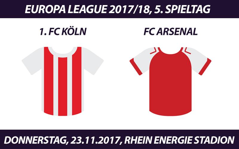 Europa League Tickets: 1. FC Köln - FC Arsenal, 23.11.2017