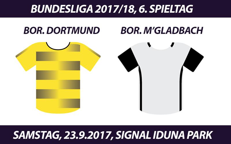 Bundesliga Tickets: Borussia Dortmund - Borussia Mönchengladbach, 23.9.2017