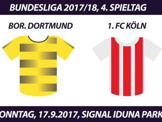 Bundesliga Tickets: Borussia Dortmund - 1. FC Köln, 17.9.2017