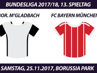 Bundesliga Tickets: Borussia Mönchengladbach - FC Bayern, 25.11.2017
