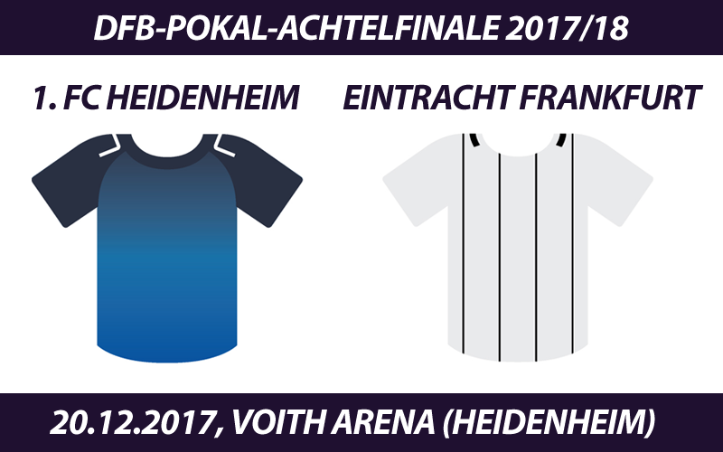 DFB-Pokal Tickets: 1. FC Heidenheim - Eintracht Frankfurt, 20.12.2017
