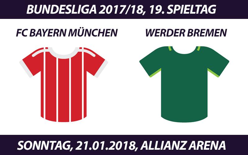 Bundesliga Tickets: FC Bayern München - Werder Bremen, 21.01.2018