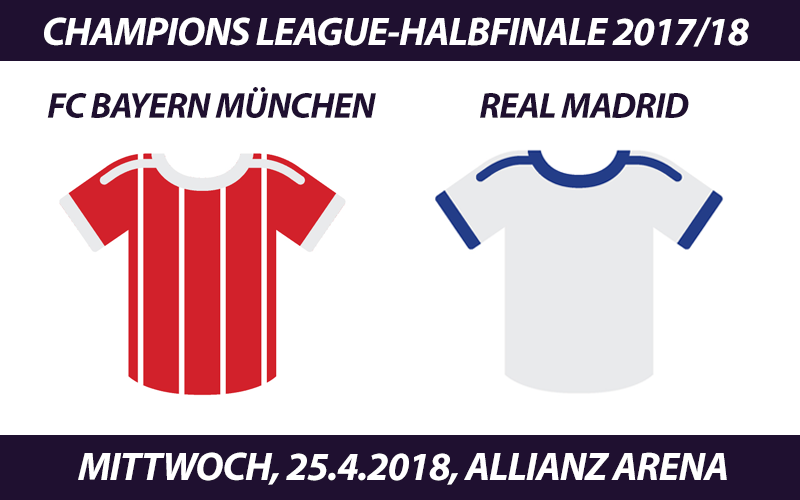 Champions League Tickets: FC Bayern München - Real Madrid, 25.4.2018