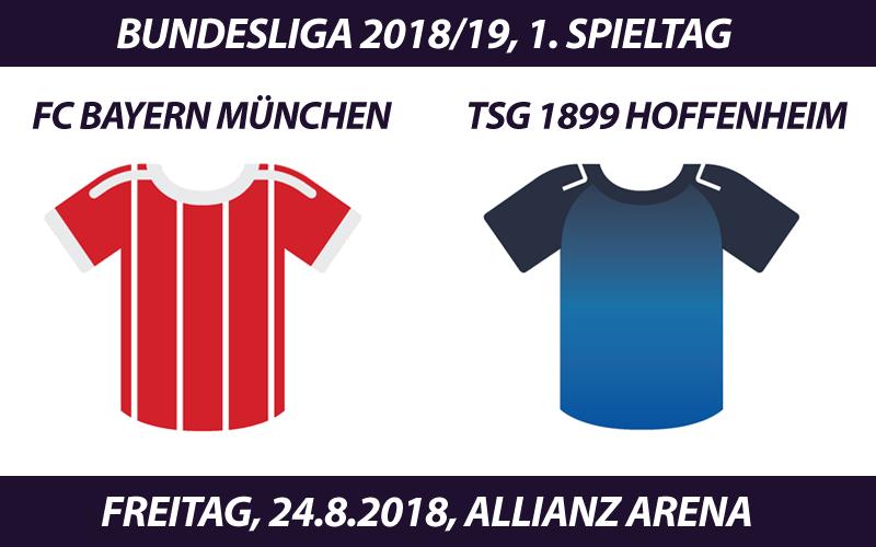 Bundesliga Tickets 2018/19: FC Bayern München - TSG 1899 Hoffenheim, 24.8.2018 (Auftaktspiel)
