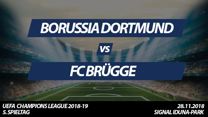 Champions League Tickets: Borussia Dortmund - FC Brügge, 28.11.2018