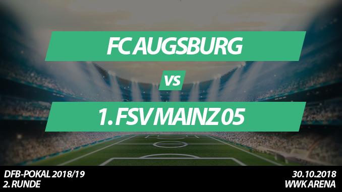 DFB-Pokal Tickets: FC Augsburg - 1. FSV Mainz 05, 30.10.2018
