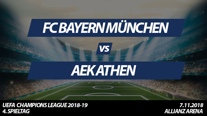 Champions League Tickets: FC Bayern - AEK Athen, 7.11.2018