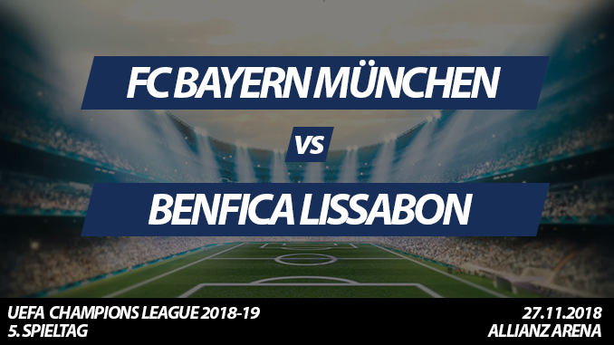 Champions League Tickets: FC Bayern - Benfica Lissabon, 27.11.2018