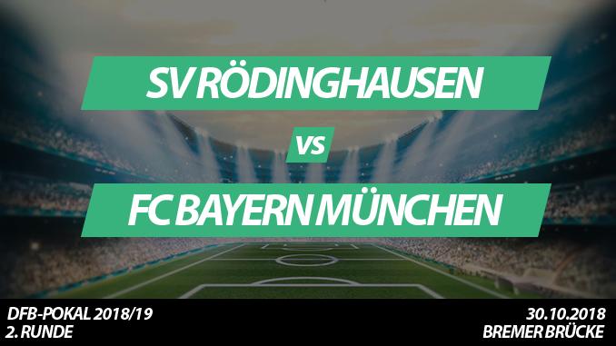 DFB-Pokal Tickets: SV Rödinghausen - FC Bayern München, 30.10.2018