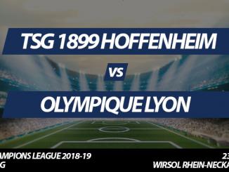 Champions League Tickets: TSG 1899 Hoffenheim - Olympique Lyon, 23.10.2018