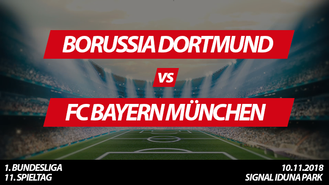 Bundesliga Tickets: Borussia Dortmund - FC Bayern München, 10.11.2018