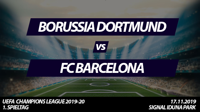 Champions League Tickets: Borussia Dortmund - FC Barcelona, 17.9.2019