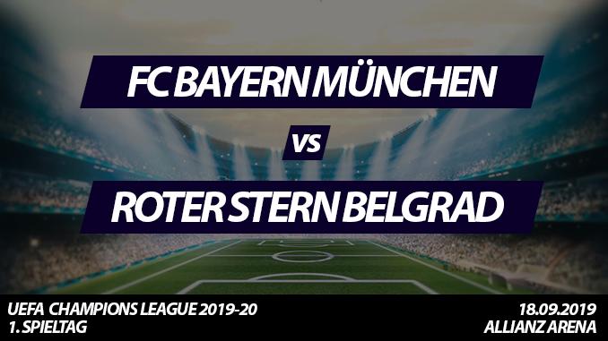 Champions League Tickets: FC Bayern München - Roter Stern Belgrad, 18.9.2019