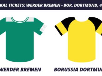 DFB-Pokal Tickets: Werder Bremen – Borussia Dortmund, 4.2.2020 (Achtelfinale)